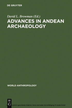 Advances in Andean Archaeology
