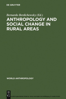Anthropology and Social Change in Rural Areas