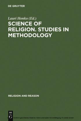 Science of Religion. Studies in Methodology