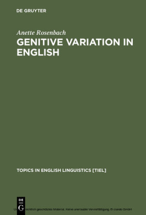 Genitive Variation in English