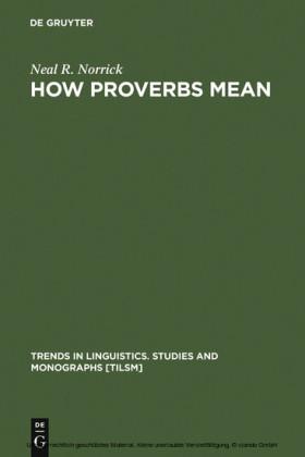 How Proverbs Mean