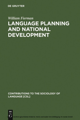 Language Planning and National Development