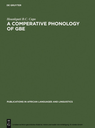 A Comparative Phonology of Gbe