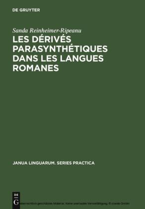 Les dérivés parasynthétiques dans les langues romanes