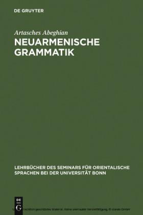 Neuarmenische Grammatik