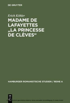 Madame de Lafayettes 'La Princesse de Clèves'