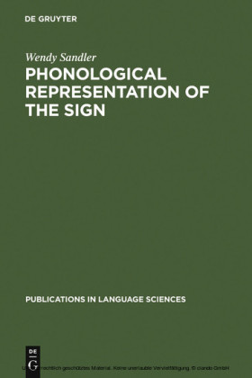 Phonological Representation of the Sign