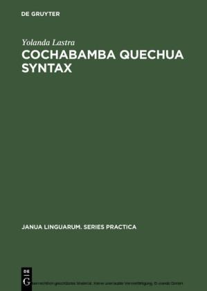 Cochabamba Quechua Syntax