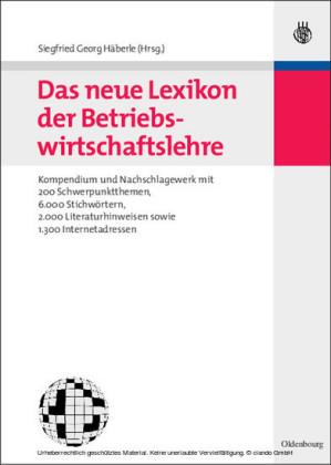 Das neue Lexikon der Betriebswirtschaftslehre