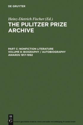 Biography / Autobiography Awards 1917-1992