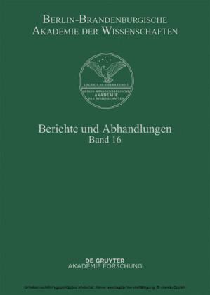 Berichte und Abhandlungen. Band 16. Bd.16
