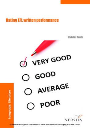 Rating EFL Written Performance