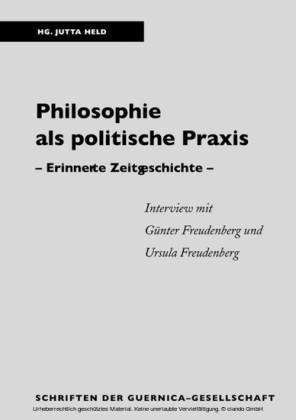 Philosophie als politische Praxis