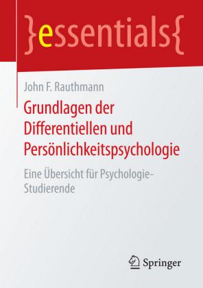 Grundlagen der Differentiellen und Persönlichkeitspsychologie
