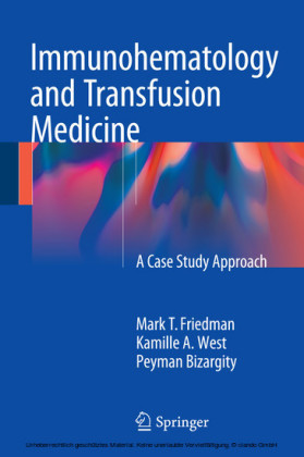 Immunohematology and Transfusion Medicine
