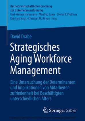 Strategisches Aging Workforce Management