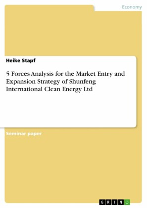 5 Forces Analysis for the Market Entry and Expansion Strategy of Shunfeng International Clean Energy Ltd