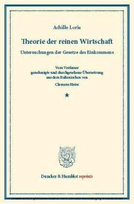 Theorie der reinen Wirtschaft.