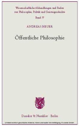Öffentliche Philosophie.