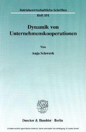 Dynamik von Unternehmenskooperationen.