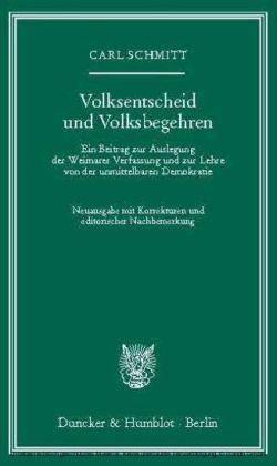 Volksentscheid und Volksbegehren.