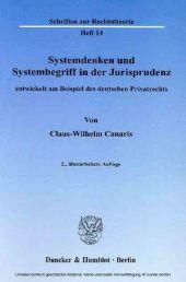 Systemdenken und Systembegriff in der Jurisprudenz,