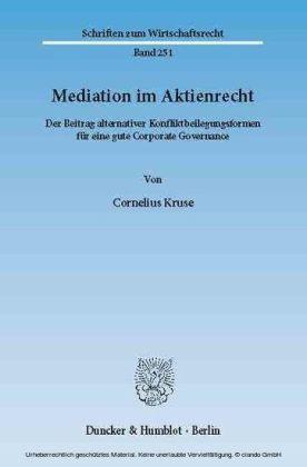 Mediation im Aktienrecht.