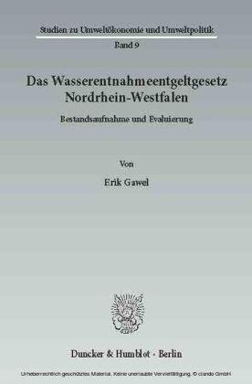 Das Wasserentnahmeentgeltgesetz Nordrhein-Westfalen.