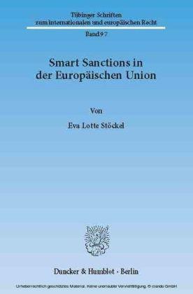 Smart Sanctions in der Europäischen Union.