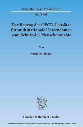 Der Beitrag der OECD-Leitsätze für multinationale Unternehmen zum Schutz der Menschenrechte.