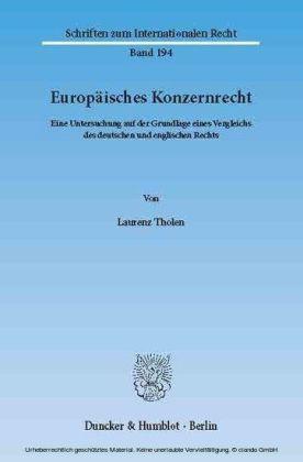 Europäisches Konzernrecht.