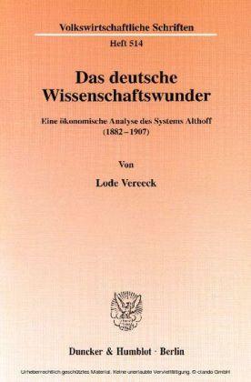 Das deutsche Wissenschaftswunder.