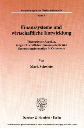 Finanzsysteme und wirtschaftliche Entwicklung.