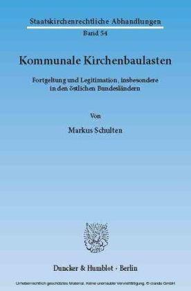 Kommunale Kirchenbaulasten.
