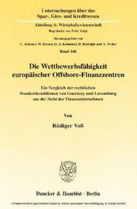 Die Wettbewerbsfähigkeit europäischer Offshore-Finanzzentren.