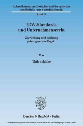 IDW-Standards und Unternehmensrecht.