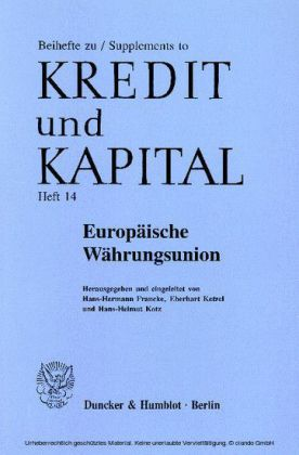 Europäische Währungsunion.