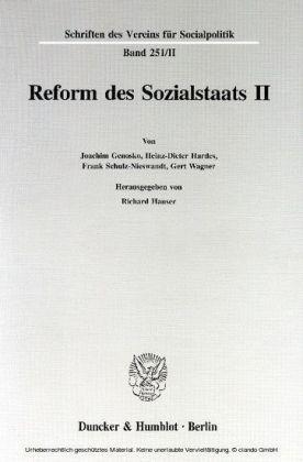 Reform des Sozialstaats II.