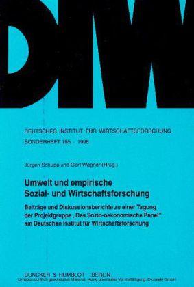 Umwelt und empirische Sozial- und Wirtschaftsforschung.