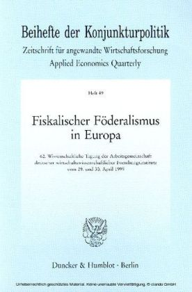 Fiskalischer Föderalismus in Europa.