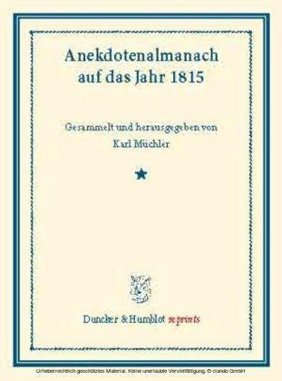 Anekdotenalmanach auf das Jahr 1815.