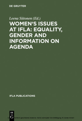 Women's Issues at IFLA: Equality, Gender and Information on Agenda