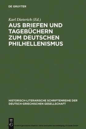 Aus Briefen und Tagebüchern zum deutschen Philhellenismus