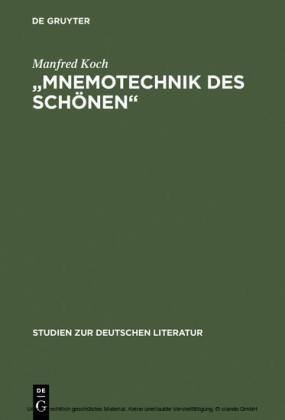 'Mnemotechnik des Schönen'