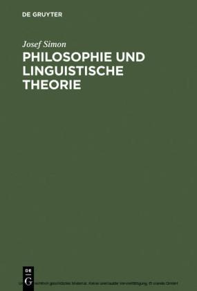 Philosophie und linguistische Theorie