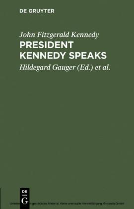 President Kennedy speaks
