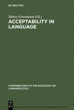 Acceptability in Language