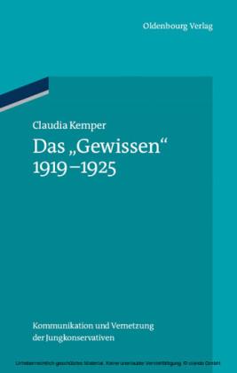 Das 'Gewissen' 1919-1925