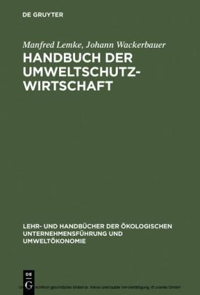 Handbuch der Umweltschutzwirtschaft