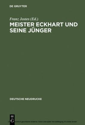 Meister Eckhart und seine Jünger